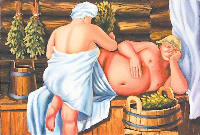 Девушка со стариком в бане фото 147-195