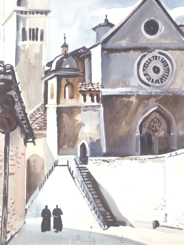 «Ассизи. Церковь Святого Франциска». 1971