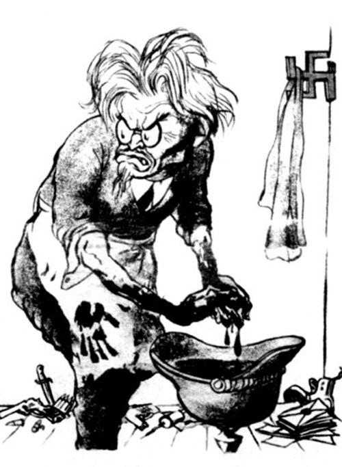 Карикатура на Троцкого работы Кукрыниксов, 1937