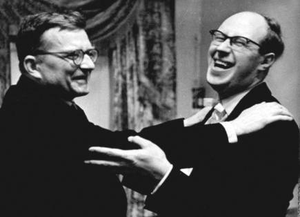 Мстислав Ростропович и Дмитрий Шостакович