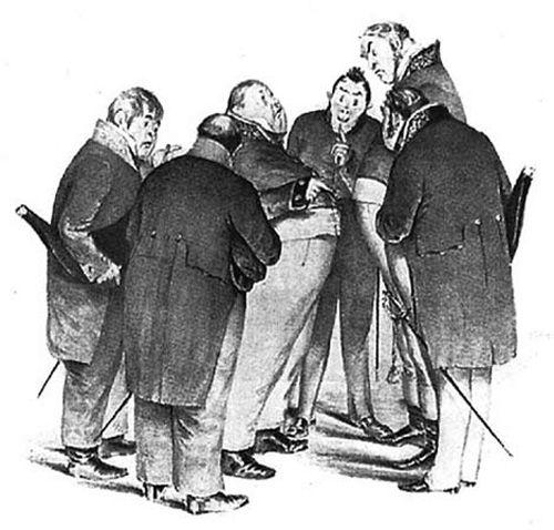 «Ревизор», литографския иллюстрация П.М. Боклевского