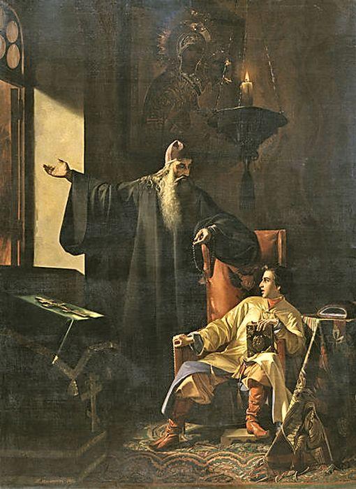 П. Плешанов. «Иван IV и протопоп Сильвестр во время большого московского пожара 24 июня 1547 года»