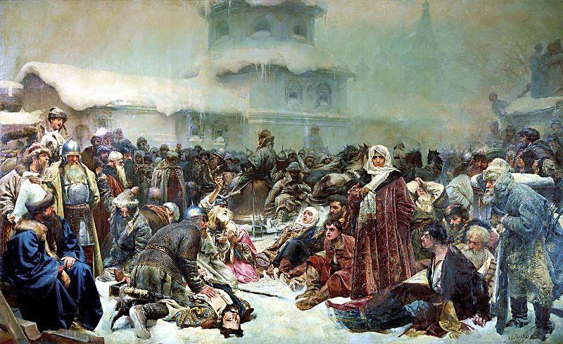 К. Лебедев. «Марфа-посадница (Уничтожение Новгородского Веча)». 1889