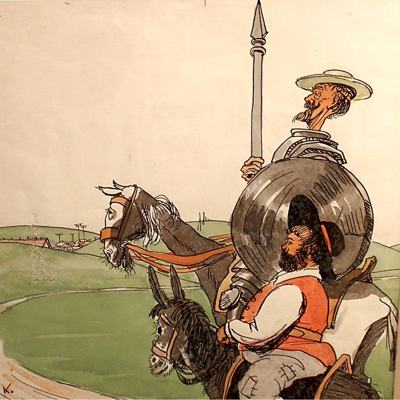 don quixote chivalric ideals The new don quixote lives in a world where he battles drones and his most audacious exploits trend on snapchat seeing his cobbled-together armor, passers-by ask whether he is iron man, or coming from a game of thrones party.