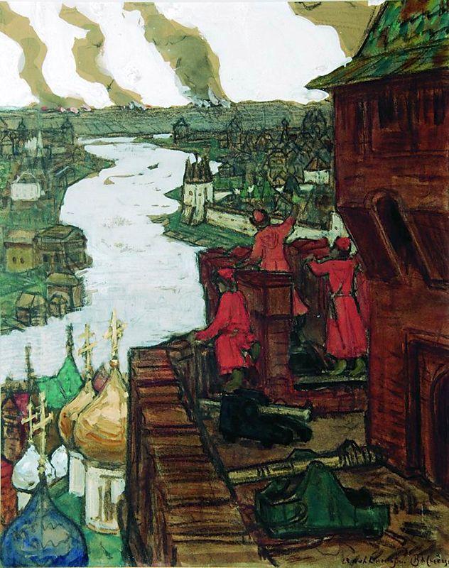 А. Васнецов. Татары идут. Конец XIV века