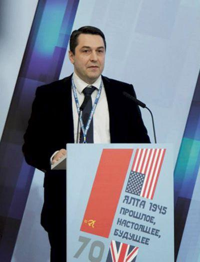 На конференции «Ялта 1945: прошлое, настоящее, будущее». Крым, 2015