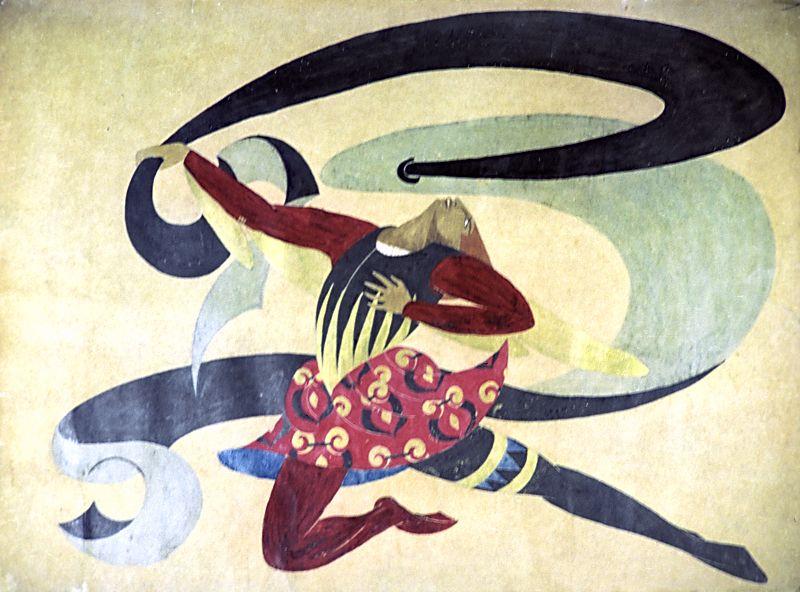 «Гонец». Эскиз костюма к драме «Ужин шуток». 1915–1916