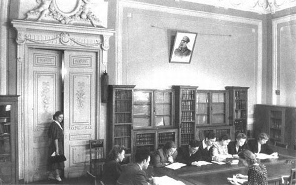 Кабинет-библиотека на Историческом факультете МГУ, 50-е