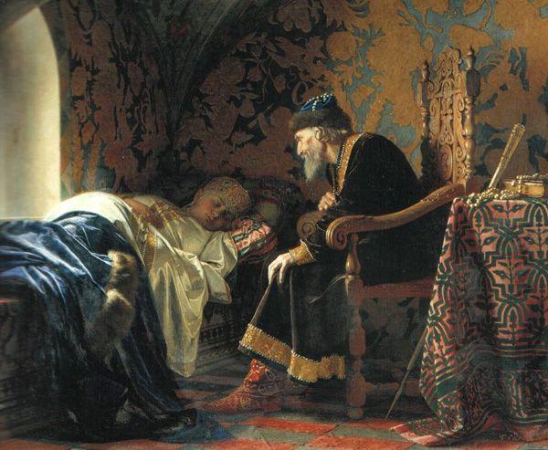 Г. Седов, «Царь Иван Грозный любуется на Василису Мелентьевну», 1875