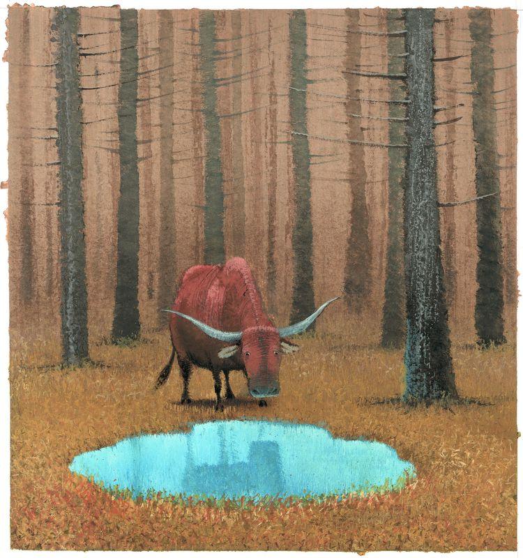 Иллюстрация. Жюль Сюпервиль. «Вол и осел при яслях». 2013