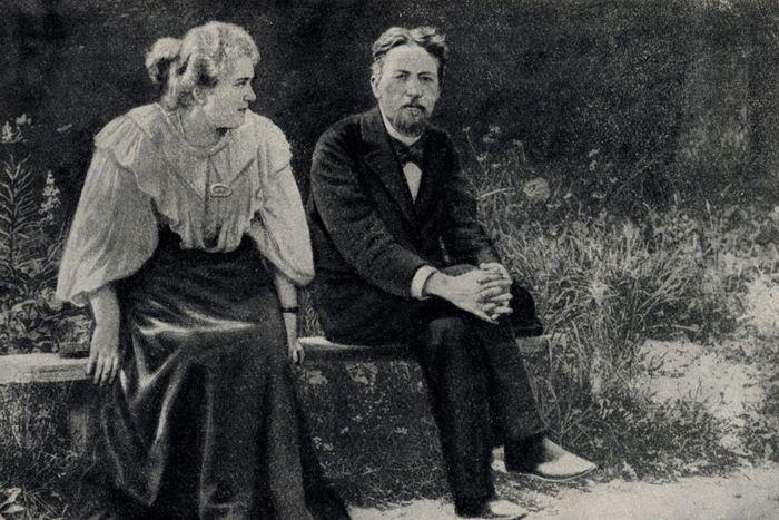 Чехов и Л. С. Мизинова в Мелихове, 1893