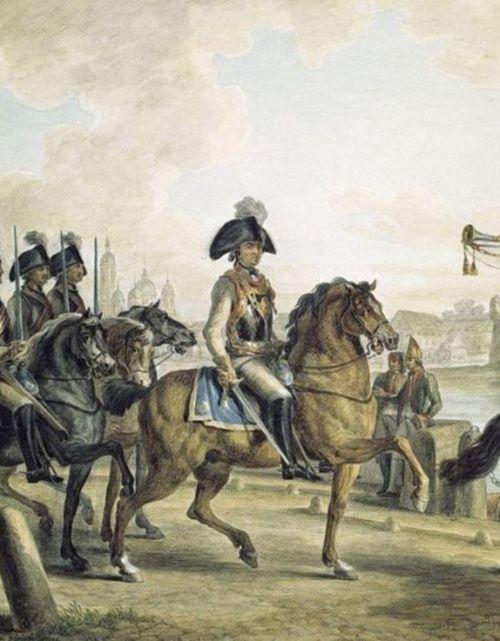 М.М. Иванов. Князь Потемкин-Таврический с кавалерийским отрядом на набережной Невы. 1798