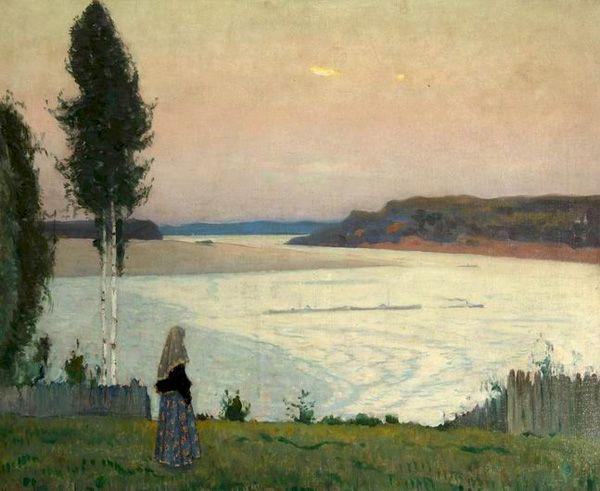 М. Нестеров «Вечер на Волге. Одиночество»