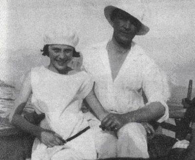 Феликс Юсупов в дочерью Ириной на Корсике. 1925
