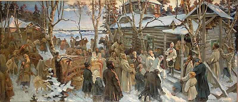 Н. А. Шабунин. «Отъезд А. В. Суворова из села Кончанского в поход 1799 г.»