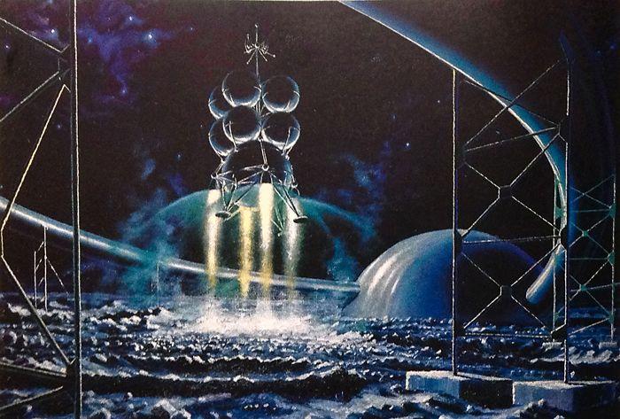 А. Соколов «Старт с лунного космодрома»