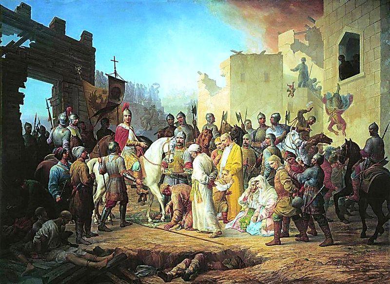 П. М. Шамшин. «Вступление Иоанна IV в Казань»