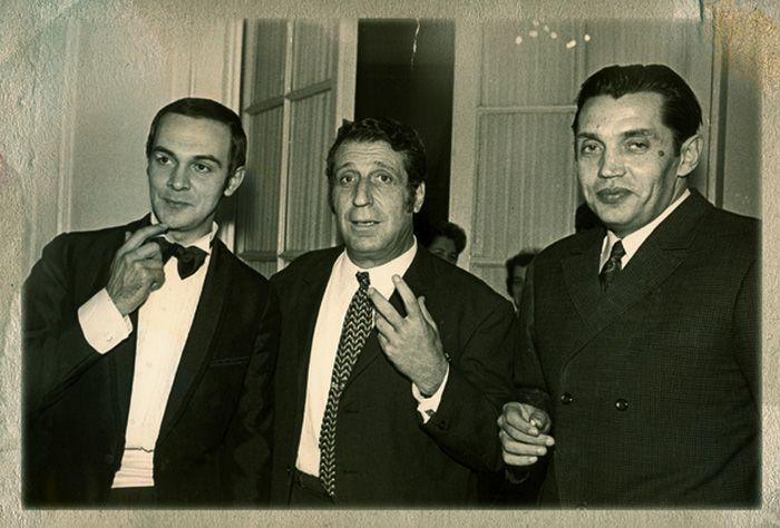 С Муслимом Магомаевым и Робертом Рождественским