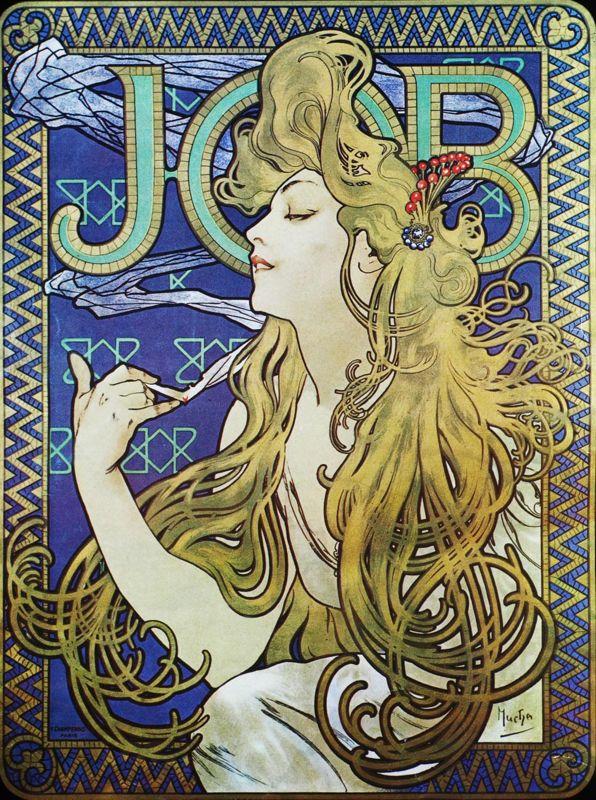 Реклама папиросной бумаги «JOB». 1896