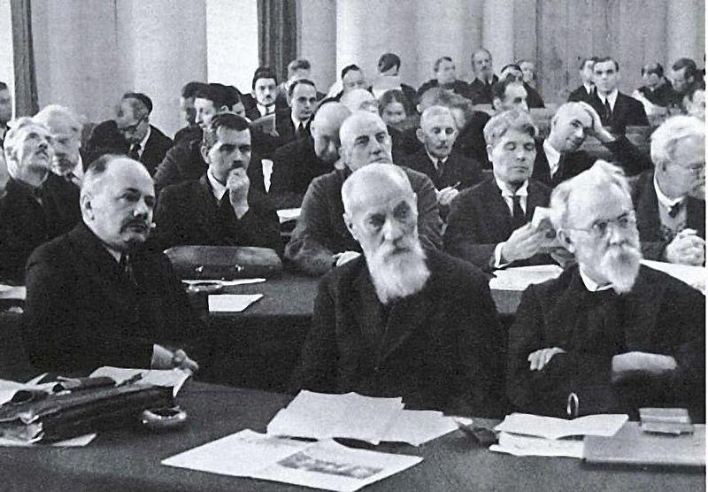В. Вернадский на собрании Академии наук. Ленинград, конец 1920-х годов