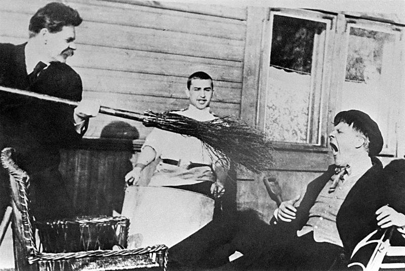 С Федором Шаляпиным. 1903