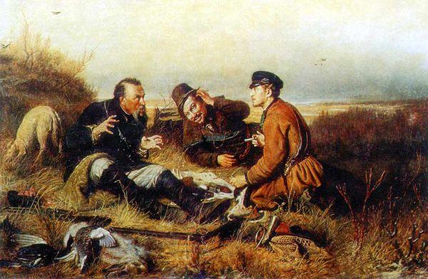В. Перов «Охотники на привале»