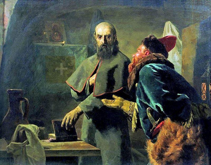 Н. Неврев «Митрополит Филипп и Малюта Скуратов». 1898