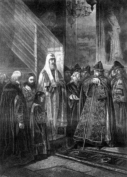 В. Пукирев «Митрополит Филипп отказывается благословить Ивана Грозного»