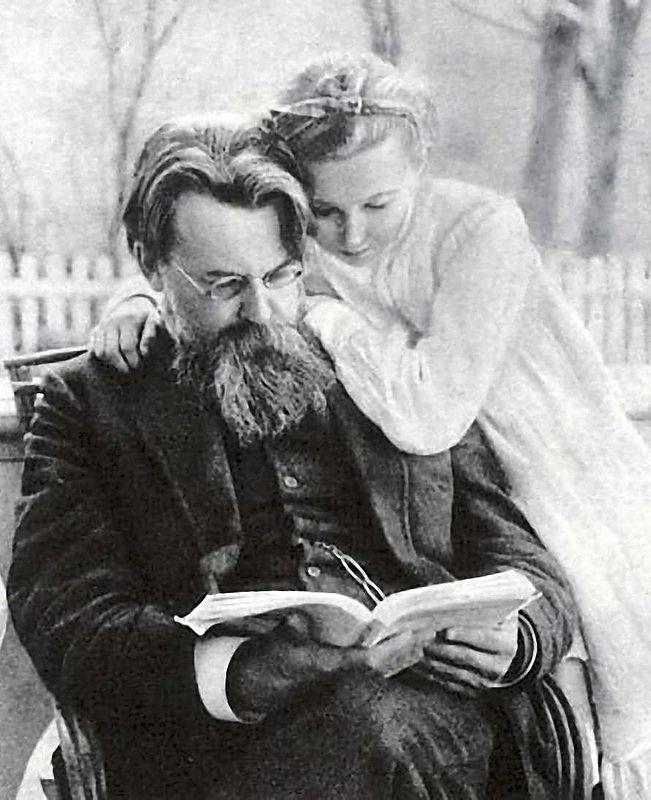 С дочерью Ниной. 1910