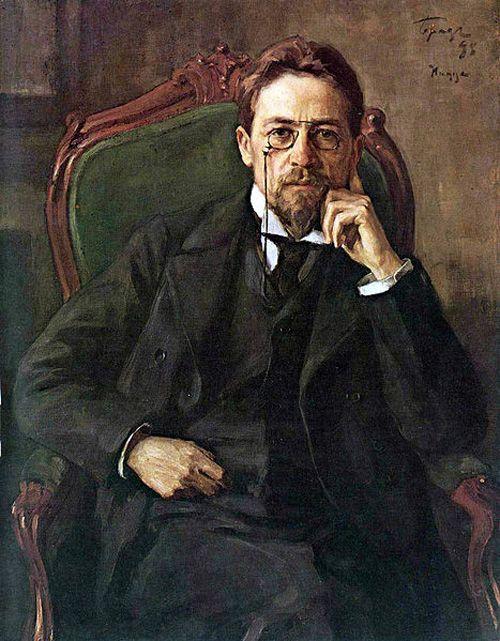 Портрет Чехова работы И. Браза