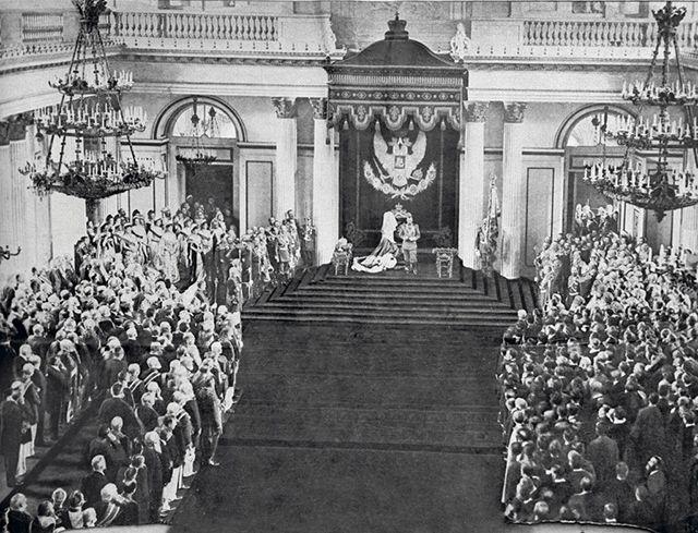 Тронная речь Николая II на приеме членов Государственной думы в Зимнем дворце 27 апреля 1906 года