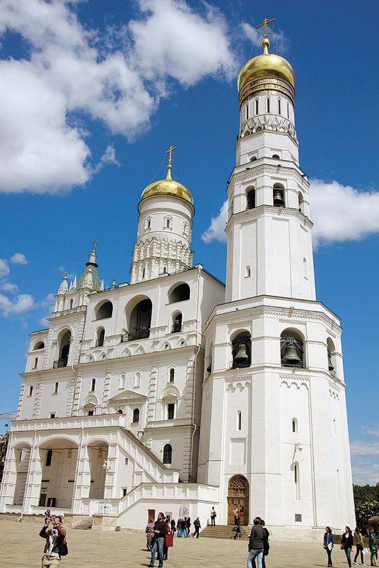 Московский кремль. Колокольня Ивана Великого и звонница
