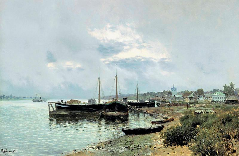 И. Левитан. «После дождя. Плёс», 1889