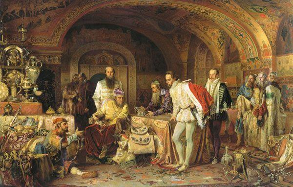Иван Грозный показывает сокровища английскому послу Горсею, 1875