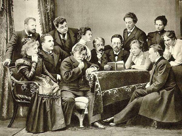 С актерами Художественного театра