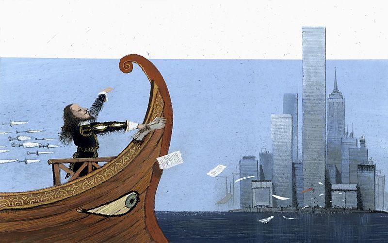 Иллюстрация. Иосиф Бродский. «Кто открыл Америку». 2013