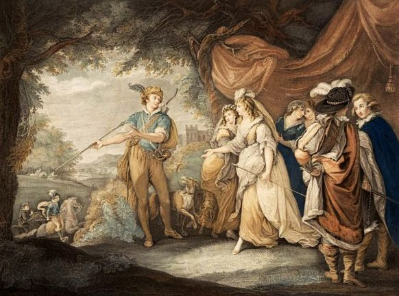Томас Райдер «Бесплодные усилия любви», гравюра, 1793