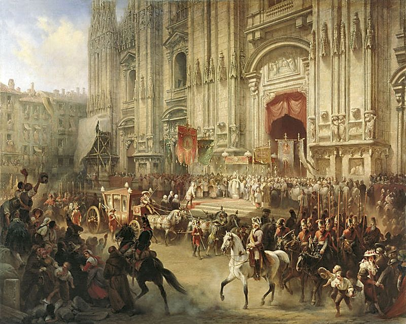 А.Шарлемань. «Торжественная встреча Суворова в Милане в апреле 1799 года»