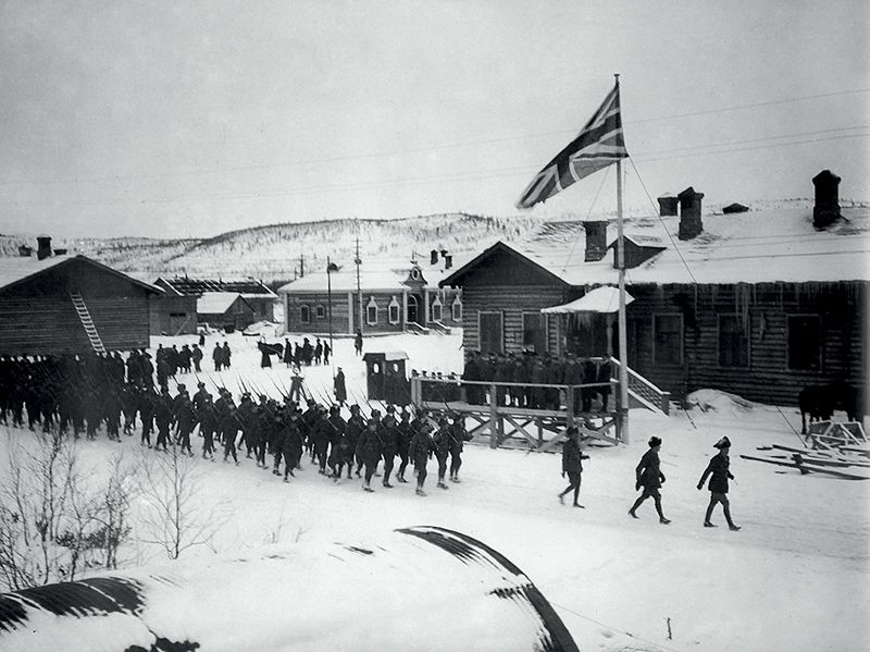 Английские интервенты в Мурманске. 1918