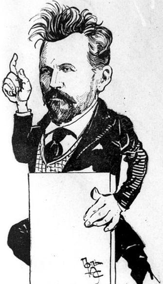 Карикатура на депутата Государственной Думы С. Н. Булгакова. 1907 год