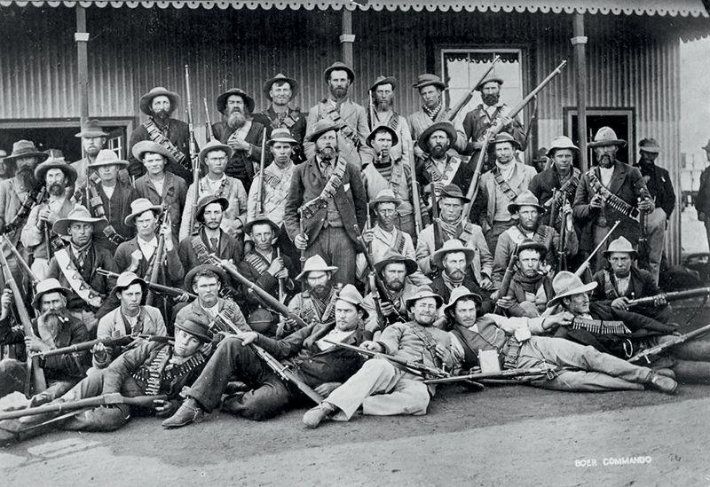 Отряд буров времен войны 1899–1902 гг.